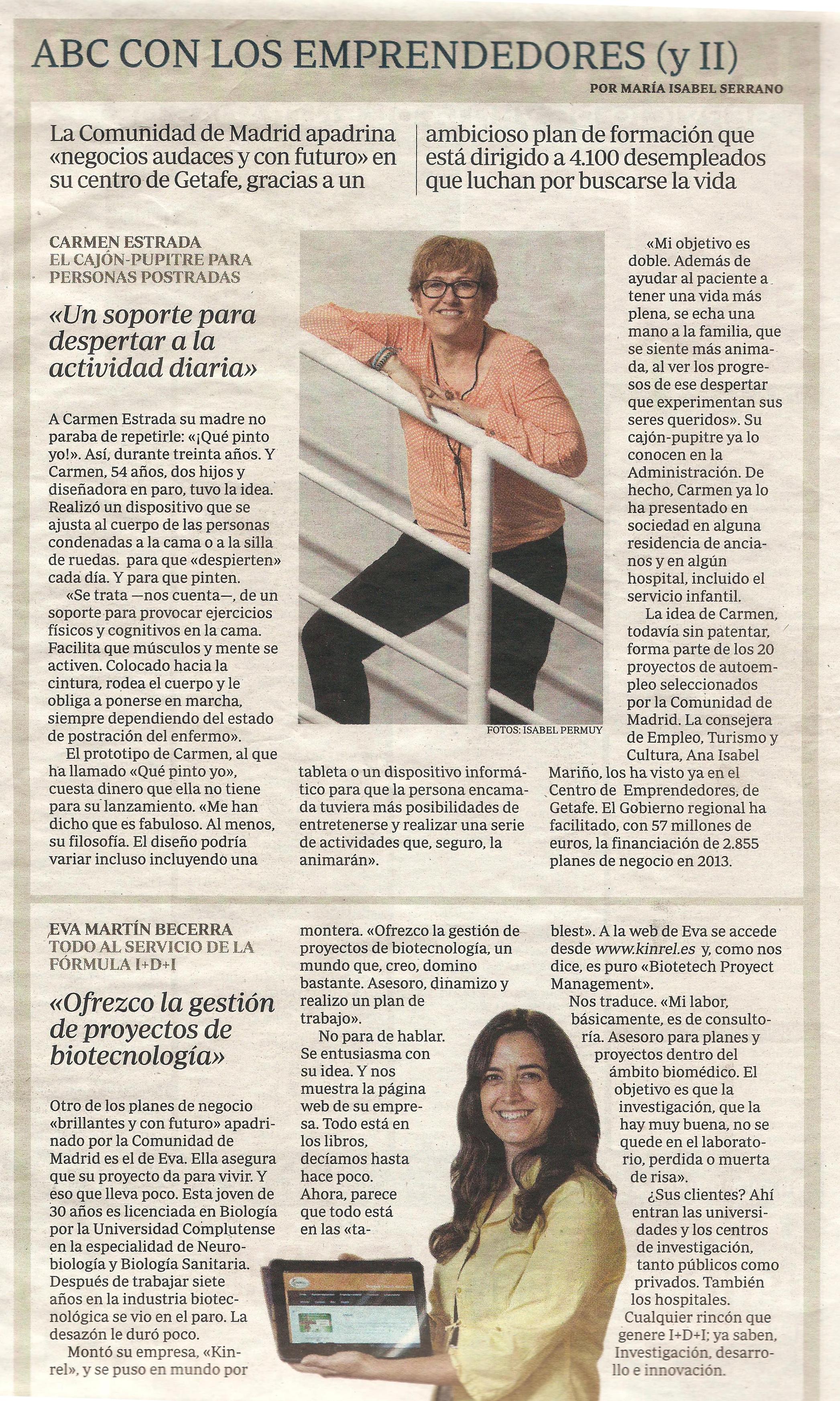 """ABC con los emprendedores """" Inicia tu proyecto"""" Comunidad de Madrid"""